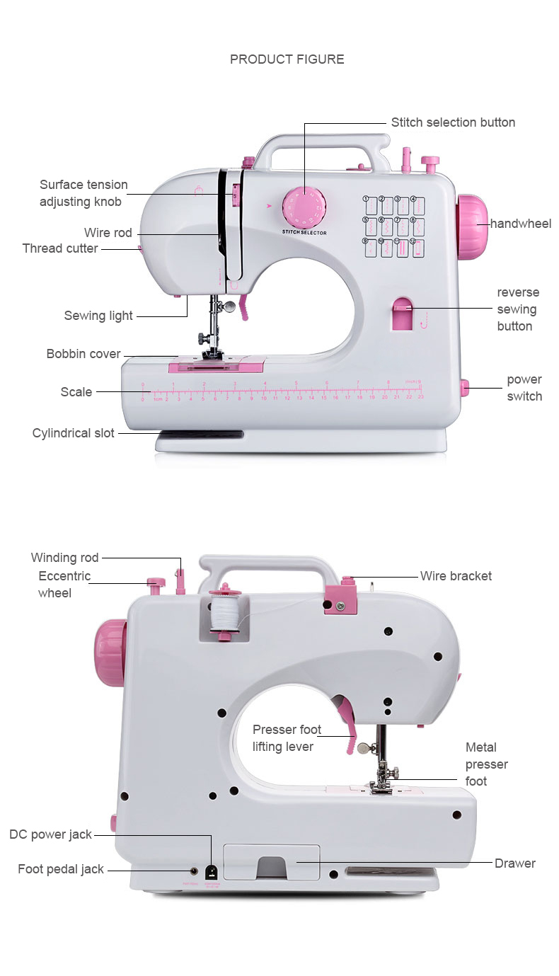 household sewing machine function